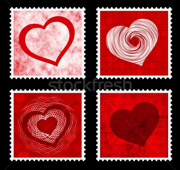 марок сердце дизайна фон пространстве Сток-фото © bokica