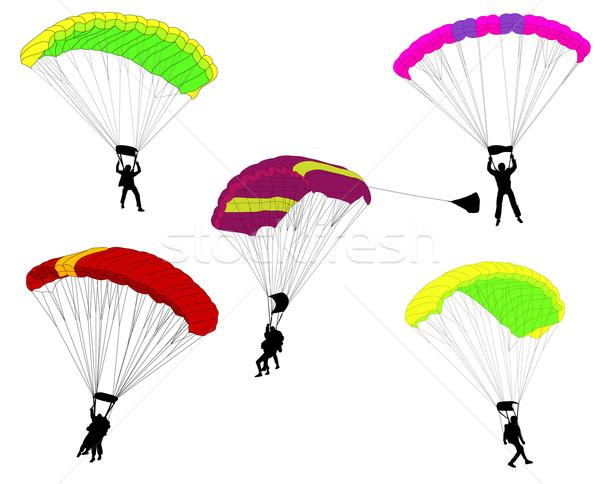 skydivers illustration Stock photo © bokica