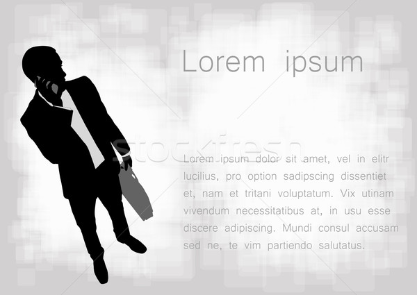 businessman holding paper with space for your text Stock photo © bokica