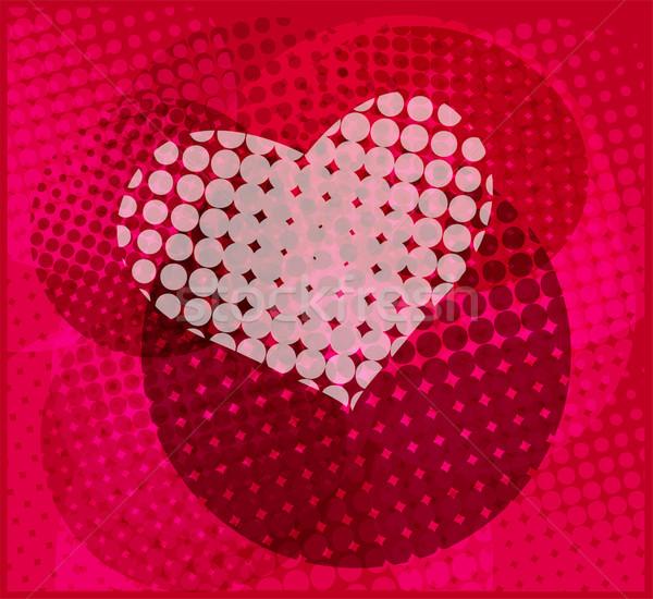 Halftoon hart gelukkig ontwerp achtergrond ruimte Stockfoto © bokica