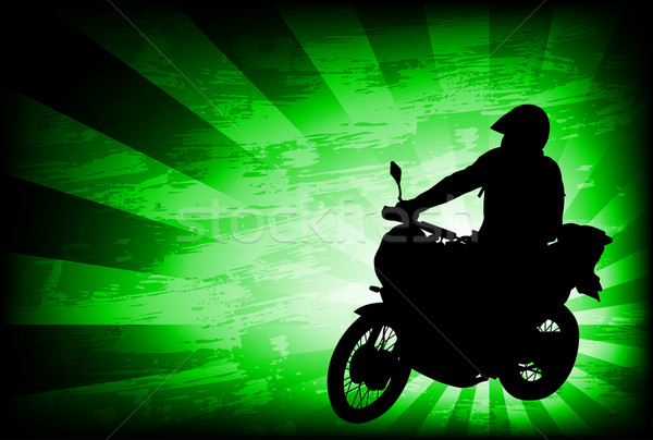motorcyclist on the abstract background Stock photo © bokica