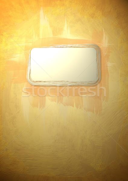 Velho pintado etiqueta dentro textura Foto stock © bonathos