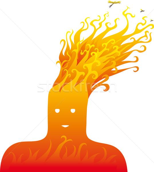 огня голову пламя волос один природного Сток-фото © bonathos