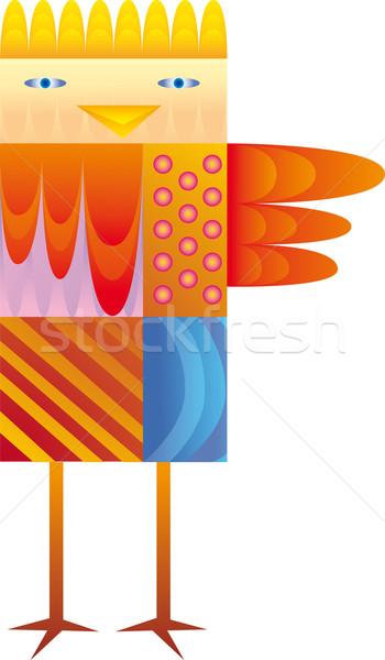 красочный птица ребенка подобно иллюстрация Сток-фото © bonathos