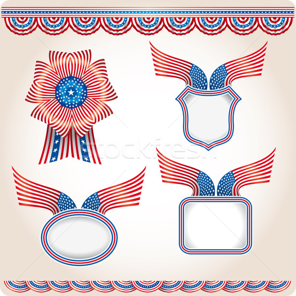 набор различный США флаг продукции выборы Сток-фото © bonathos
