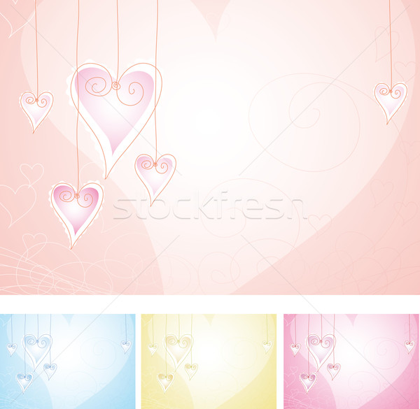 любви Валентин четыре цвета аннотация сердце Сток-фото © bonathos