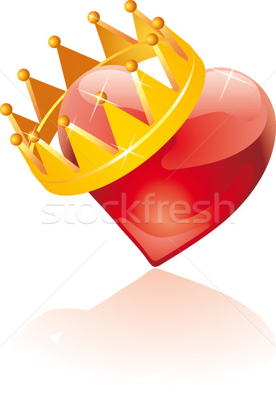 Glass crowned heart   Stock photo © bonathos