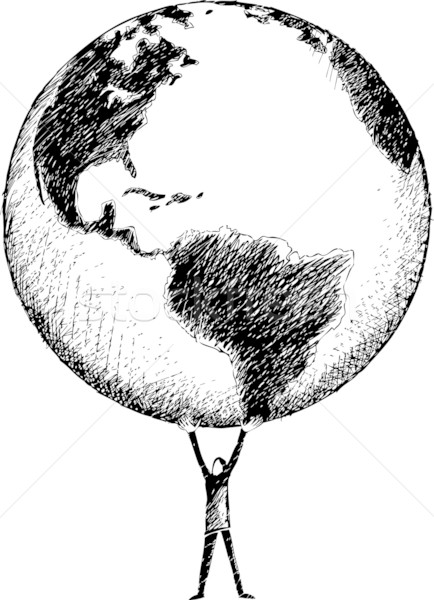 世界 手 男 ホールド 全体 ストックフォト © bonathos