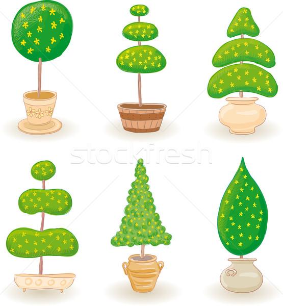 саду деревья набор шесть типичный мало Сток-фото © bonathos