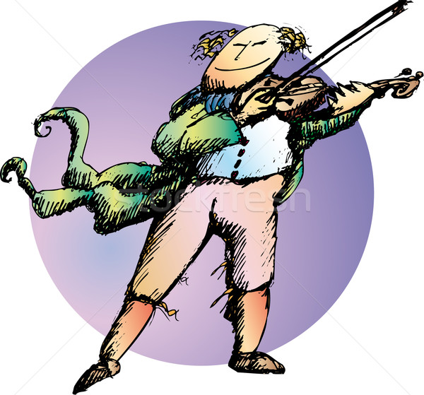 скрипач классический играет музыку Сток-фото © bonathos