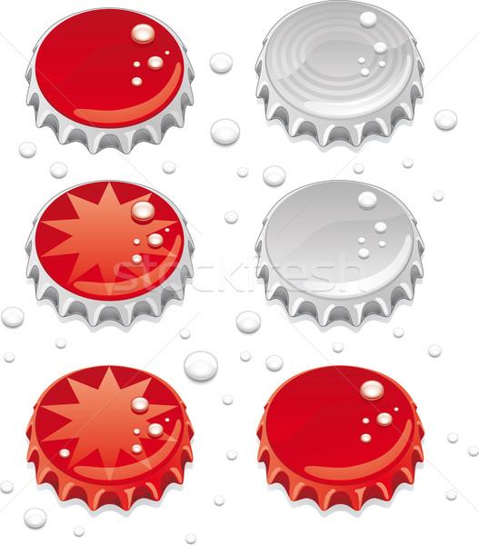 бутылку шесть графика капли воды отдельный Сток-фото © bonathos