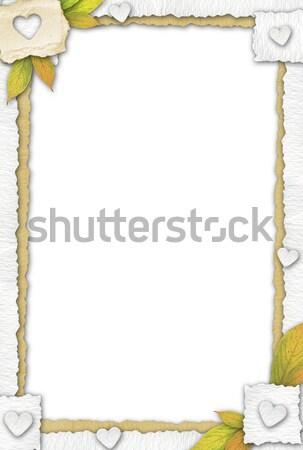 Papel quadro vários peças folhas Foto stock © bonathos