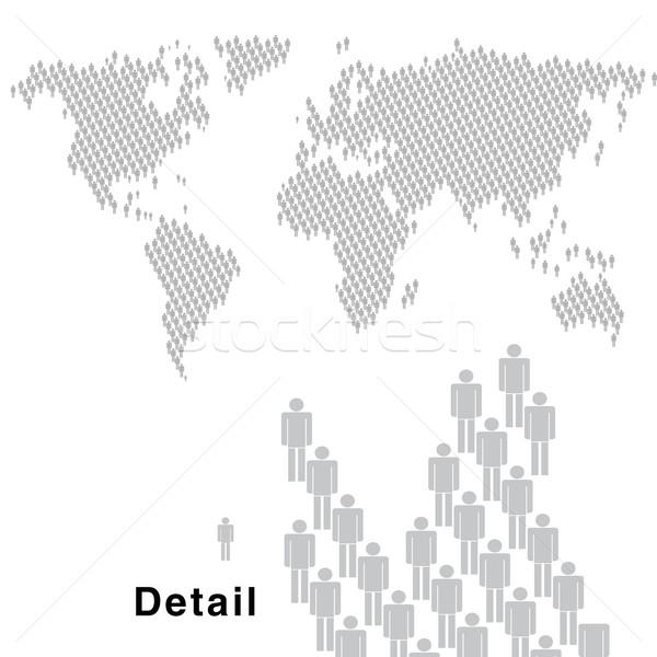 Мир люди карта мало человека Сток-фото © bonathos