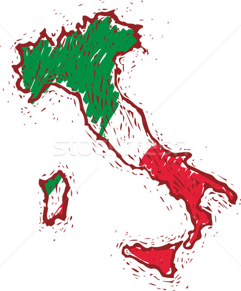 Italien Karte Stock foto © bonathos