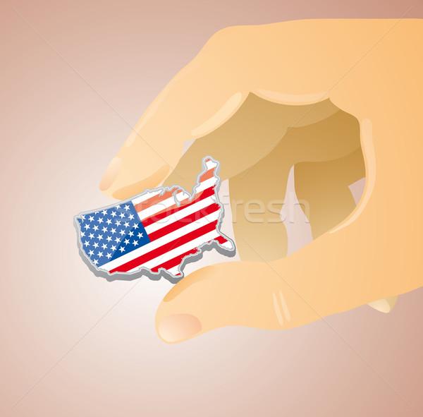 USA between my fingers Stock photo © bonathos