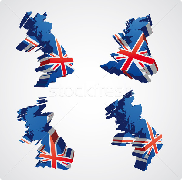 Four UK 3d views Stock photo © bonathos
