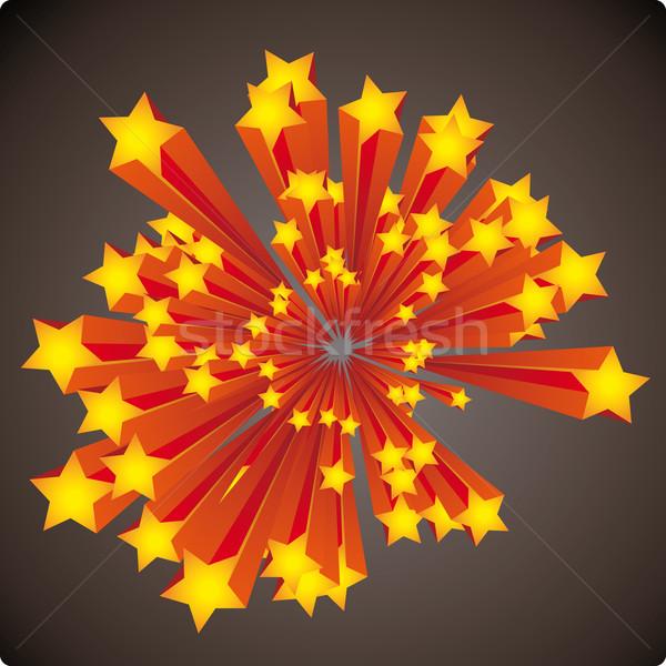 Csillagok robbanás grafikus csíkok sötét buli Stock fotó © bonathos