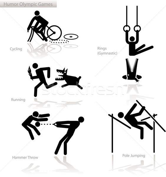 Humor olympic games - 1  Stock photo © bonathos