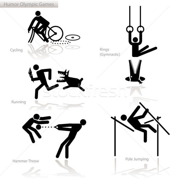 Humor olimpiai játékok lát pont kilátás szett Stock fotó © bonathos
