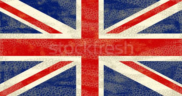 Grunge vlag hoog gedetailleerd roestige Stockfoto © bonathos