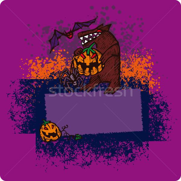 Halloween frame Stock photo © bonathos