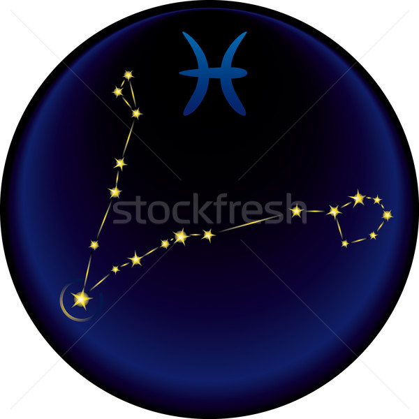 Zodiac Pisces Sign	  Stock photo © bonathos