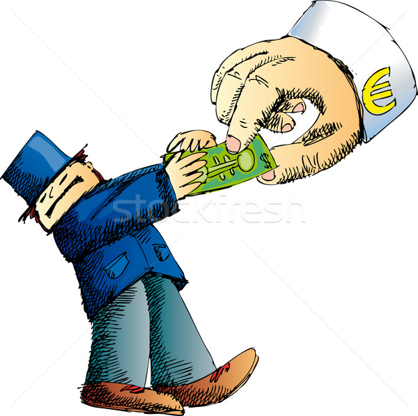 Stock photo: Euro vs dollar