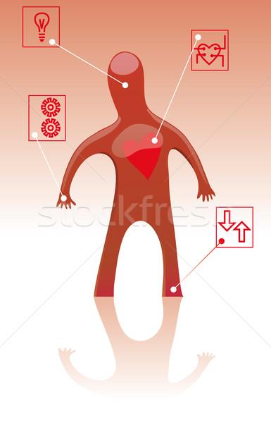 Herz Mann Symbole medizinischen gesunden Gesundheit Stock foto © bonathos