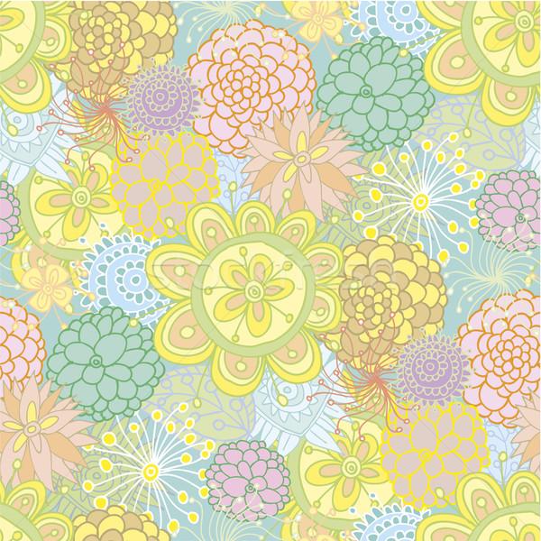 Sem costura floral padrão projeto vários Foto stock © bonathos