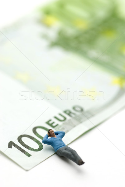 Sleeping on Euros  Stock photo © bonathos