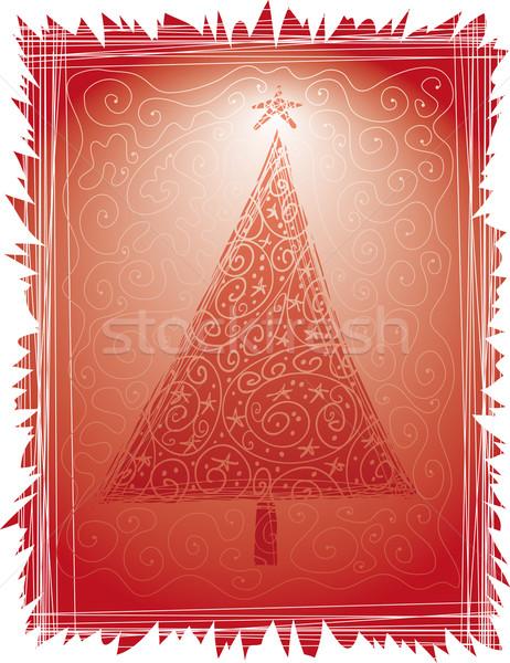 クリスマスツリー フレーム 冬 星 パターン ストックフォト © bonathos