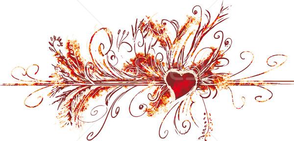 ビッグ バレンタイン グランジ 装飾 ストックフォト © bonathos