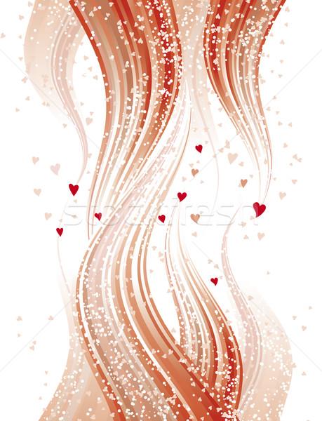 Szeretet lángok absztrakt szívek fehér terv Stock fotó © bonathos