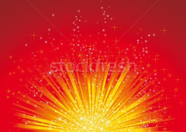 クリスマス セントラル グロー いくつかの 星 ストックフォト © bonathos
