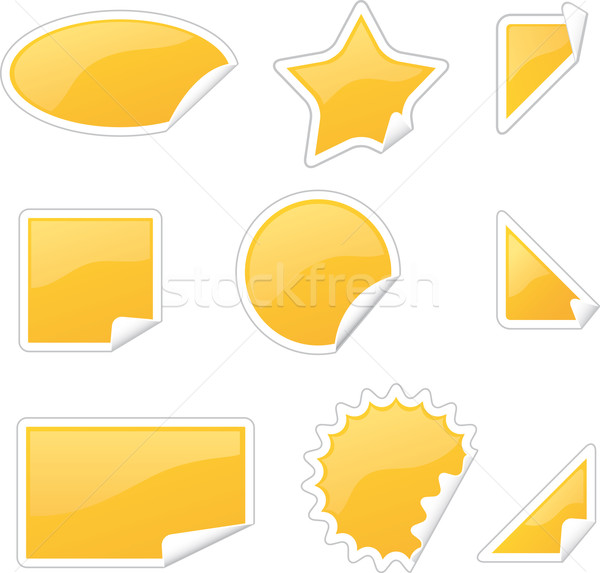 Этикетки набор различный аннотация Сток-фото © bonathos