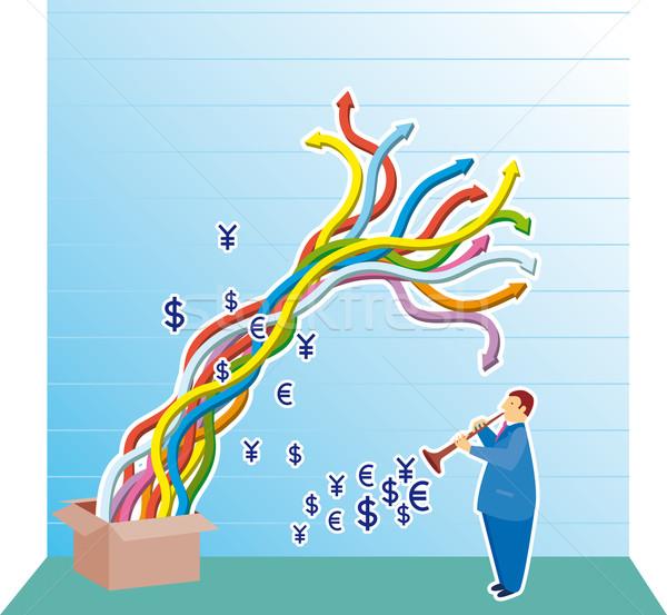 グラフ ビジネスマン ダイアグラム ビジネス ストックフォト © bonathos