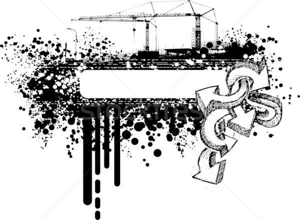 グランジ バナー 都市 グラフィック フレーム 値下がり ストックフォト © bonathos