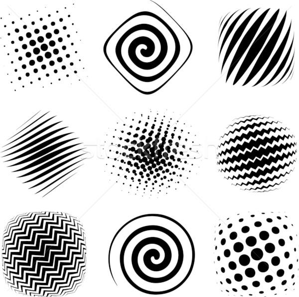 дизайна Элементы девять графических полутоновой готовый Сток-фото © bonathos