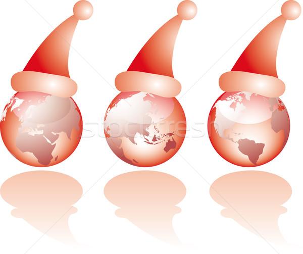 3  クリスマス ガラス 世界 世界中 サンタクロース ストックフォト © bonathos