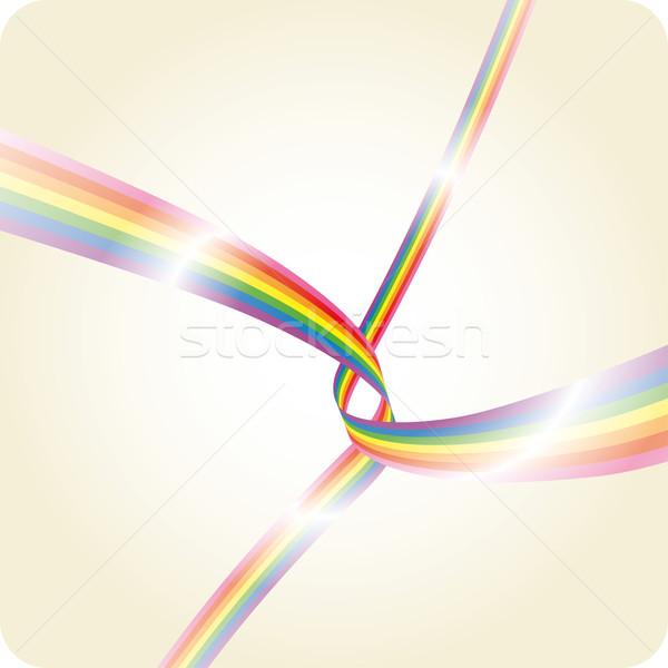 Arco-íris dois dança espaço Foto stock © bonathos
