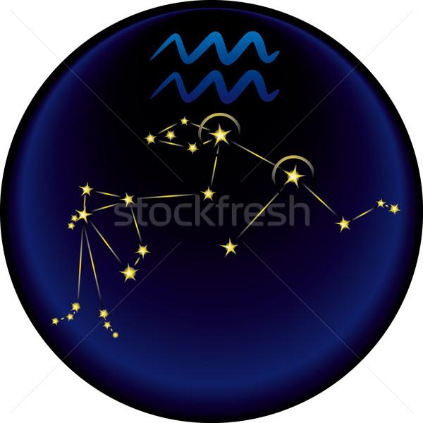 Zodíaco assinar constelação astrológico Foto stock © bonathos