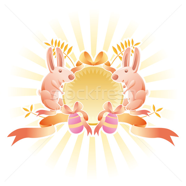 Easter banner insignia  Stock photo © bonathos