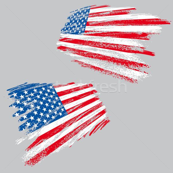 Гранж США флаг два перспективы стиль Сток-фото © bonathos