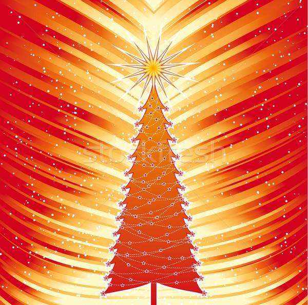 クリスマスツリー 炎 要素 雪 お祝い 装飾 ストックフォト © bonathos