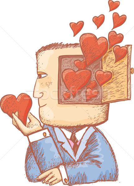 Hearts in my mind Stock photo © bonathos