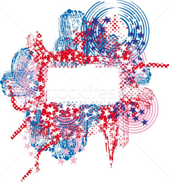 графических баннер кадр звезды Сток-фото © bonathos