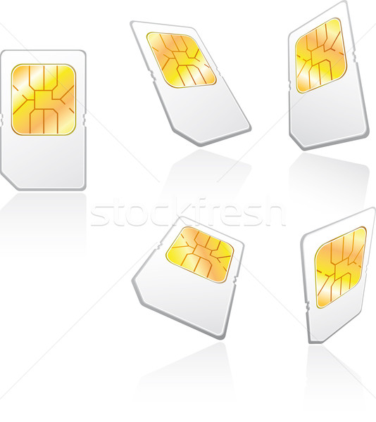 Cartão cinco celular rede móvel serviço Foto stock © bonathos