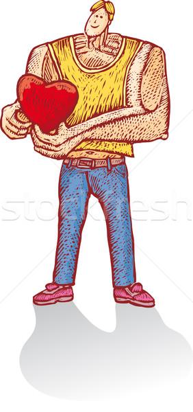 Heart boy Stock photo © bonathos