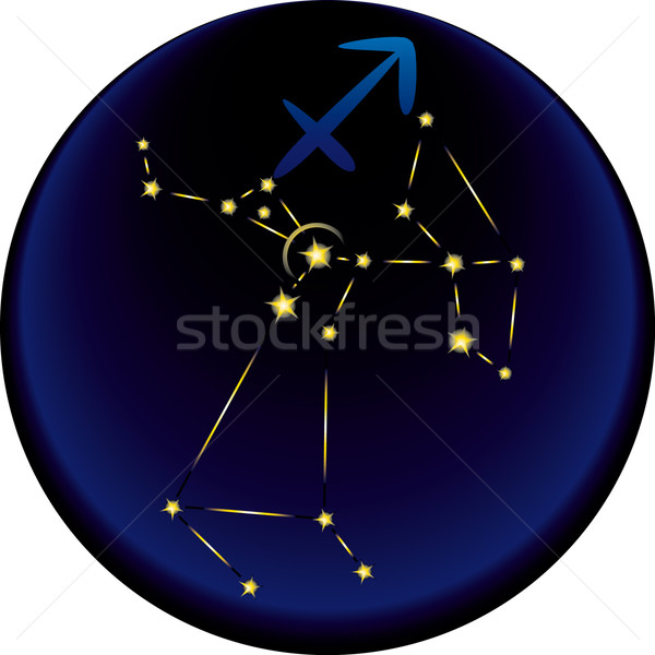 Zodiac Sagittarius Sign	  Stock photo © bonathos