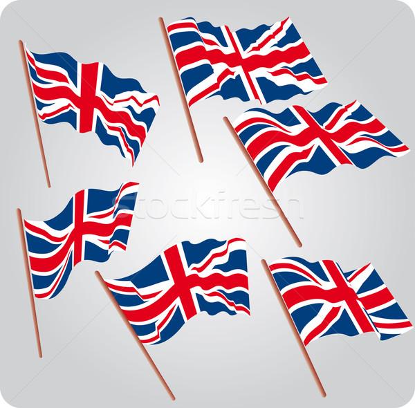 Seis bandeiras conjunto Foto stock © bonathos